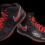 Nike LeBron 8 V1 & V2 Game Worn/Signed PEs from Upper Deck