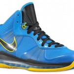 "Nike LeBron 8 V2 Photo Blue/Yellow aka ""Entourage"" Sample Pic"