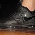 First Look: Nike Air Max LeBron 8 V/2 Low Triple Black Colorway