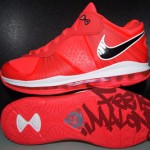Solar Red Nike LeBron 8 Low Sample Without Black Outsole