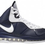 First Look: Nike Air Max LeBron 8 V/2 – Navy & White
