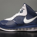 "Nike LeBron 8 V2 Navy/White/Silver aka ""Yankees"" Actual Photos"