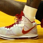 Detailed Look at Nike LeBron 8 V2 Miami Heat Home PE