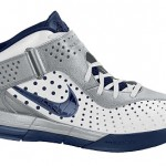 New Nike Soldier V (5) in White/Navy/Grey Available At Eastbay
