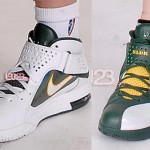 Nike Soldier 5 WNBA Lauren Jackson & Sue Bird Seattle Storm PEs