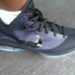 Nike LeBron VII (7) Post Season Triple Black Wear Test Sample