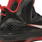 Yet Another Look at Nike LeBron 9 in Black & Varsity Red