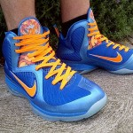 "Nike LeBron 9 ""China"" On-foot Pics w/Orange & Blue Laces"