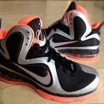 Nike Lebron 9 Metallic Silver / Black / Mango Due in 2012
