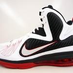 "online store c377f 99a93 ... Nike LeBron 9 White Black Red ""Miami Heat"" Home"