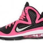 Nike Lebron 9 GS Laser Pink / Metallic Silver – Black