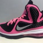 "Actual Photos of Nike LeBron 9 GS ""Pink / Silver / Black"""