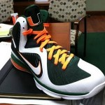 "Detailed Look at Nike LeBron 9 ""Miami Hurricanes"" PE"