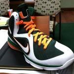 "Detailed Look at Nike LeBron 9 ""Miami Hurricanes"" PE"