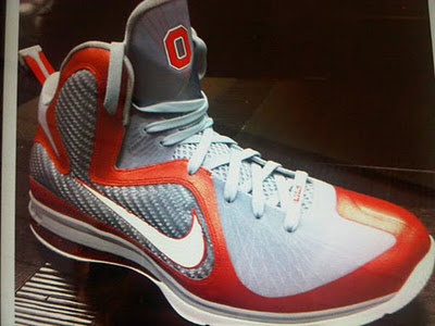 "First Look: Nike LeBron 9 ""Ohio State"" Player Exclusive ..."