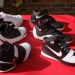 Nike Zoom LeBron Signature Shoes Black-White-Red Evolution