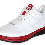 Nike Zoom LeBron VI Low White/Varsity Red-Black Available at Finishline