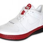 Nike Zoom LeBron VI Low White/Varsity Red-Black Available at Finishline