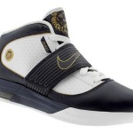 LeBron's Nike Zoom Soldier IV White/Navy/Gold Detailed Look