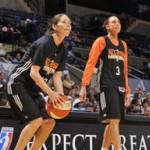 Wearing Brons: Diana Taurasi and Swin Cash in Their WNBA All-Star Nike LeBron 8 V2 PEs