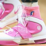 "Wearing Brons – Seimone Augustus with ""Think Pink"" Soldier IV"