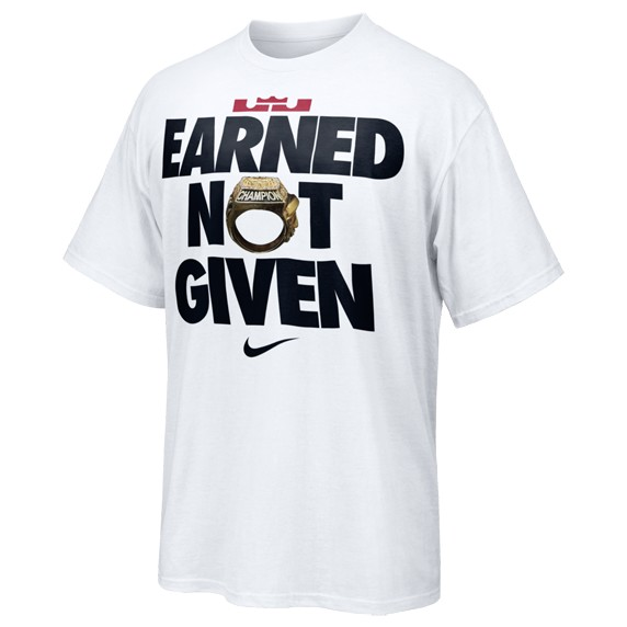 Nike to Release LeBron James' EARNED NOT GIVEN T-Shirt ...
