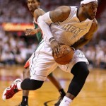 James Nears Triple Double in Miami Heat's Playoffs Opener
