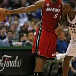 Heat Sweep the Bucks. James Wears LeBron X PS Alternate PE.