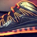 Sneak Peek at Nike Air Max LeBron X Low – Black / Orange