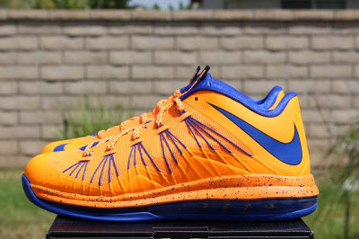 blue and orange lebron 10