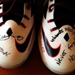 LBJ & Upper Deck Auction Game-worn Shoes to Support Victims of Newtown