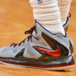 Closer Look at LBJ's Nike LeBron X PS Elite Matte Grey PE (Game 2)