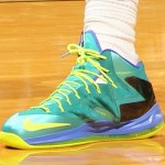"Closer Look at LBJ's X P.S. Elite ""Sport Turquoise/Volt-Violet Force"""