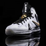 Another Look at Nike LeBron X P.S. Elite+ in White, Gold and Black