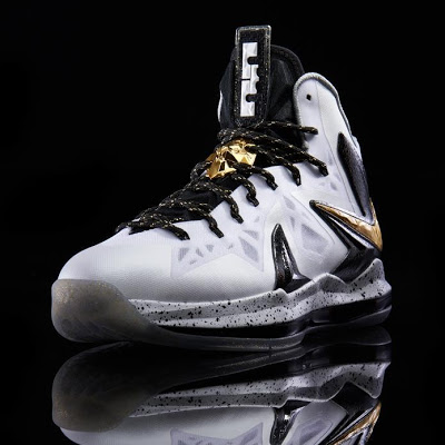 Another Look at Nike LeBron X P.S. Elite+ in White, Gold ...