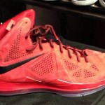 "Frankie Walker Unveils Nike LeBron X NSW ""Red Suede"" PE"