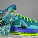Nike LeBron X P.S. Elite Sport Turquoise/Volt-Violet Force