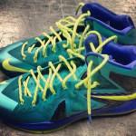 Closer Look at Nike LeBron X P.S. Elite in Teal / Violet / Volt