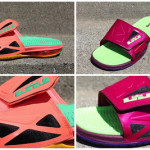 New Raspberry & Mango Nike Air LeBron 2 Elite Slides