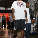 James Wears Red Foams Postgame & Equips Team LeBron in Game 7