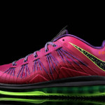 Nike Air Max LeBron X Low Red Plum & Neon Green (579765-601)