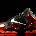 Yet Another Look at LeBron 11 Black / Metallic Red / Silver Grey