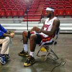 King James Rocks Custom Championship X's on NBA Media Day