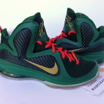 Nike LeBron 9 Alternate Green Christmas Promo Sample