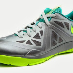 Nike LeBron ST II 579743-001 Pure Platinum / Volt / Turquoise