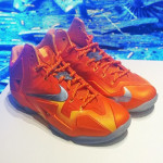 "First Look at Nike LeBron XI (11) Atomic Orange ""Forging Iron"""
