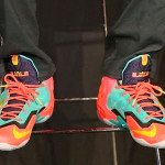 James' 1-of-1 Multicolor LeBron XI PE at Nike's 11|11 Experience
