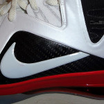 LBJ's Nike LeBron 9 PE Elite – Miami Heat Home PE – Close Up
