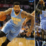 Wearing Brons: JJ Hickson and Chandler Rock Gamma Blue 11's