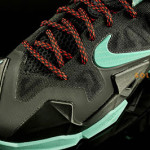 First Look at Nike LeBron XI GS Black / Mint Green (621712-004)